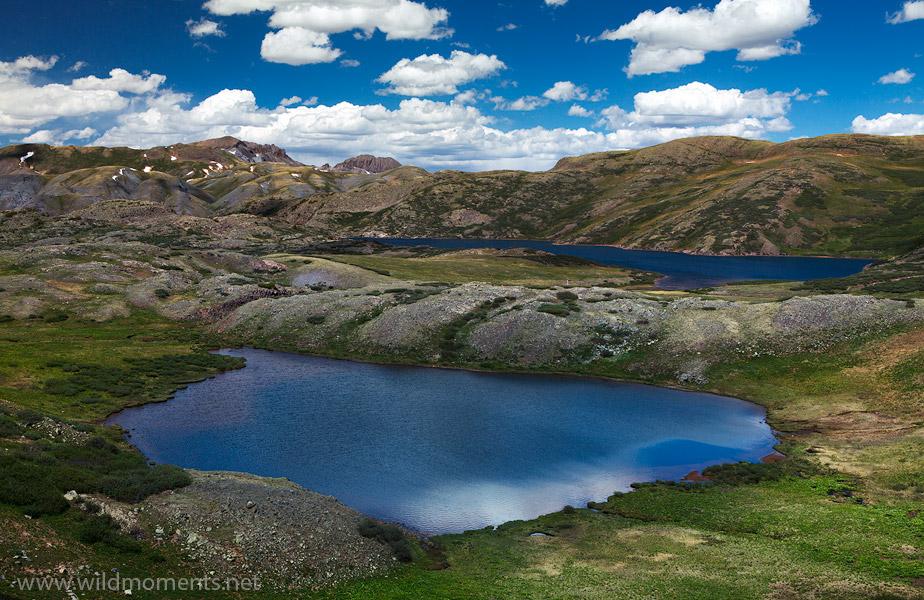 CO, Colorado, Weminuche, lake, Highland Mary Lakes, blue, afternoon, photo