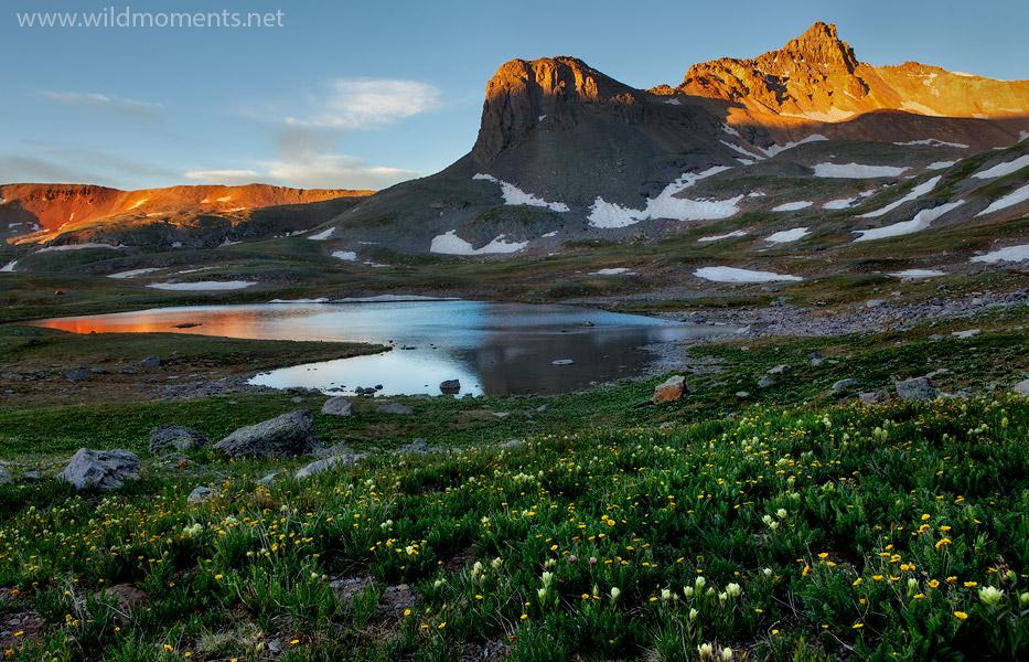 Ice Lake Basin, morning, San Juan National Forest, Colorado, photo