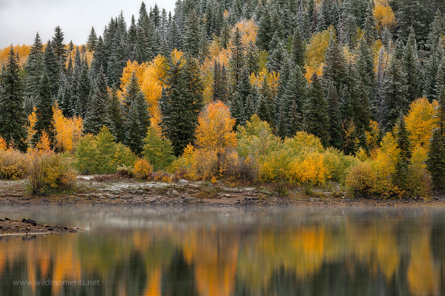 Kebler Pass, Gunnison National Forest, Colorado, September, autumn, snow, Lost Lake, mountains, CO, Crested Butte, photo