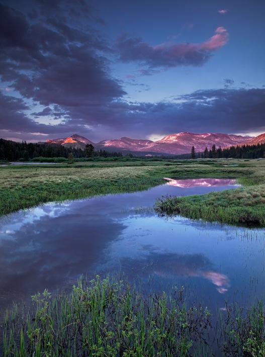 Tuolumne Meadows, Yosemite National Park, CA, California, sunset, storm, , photo