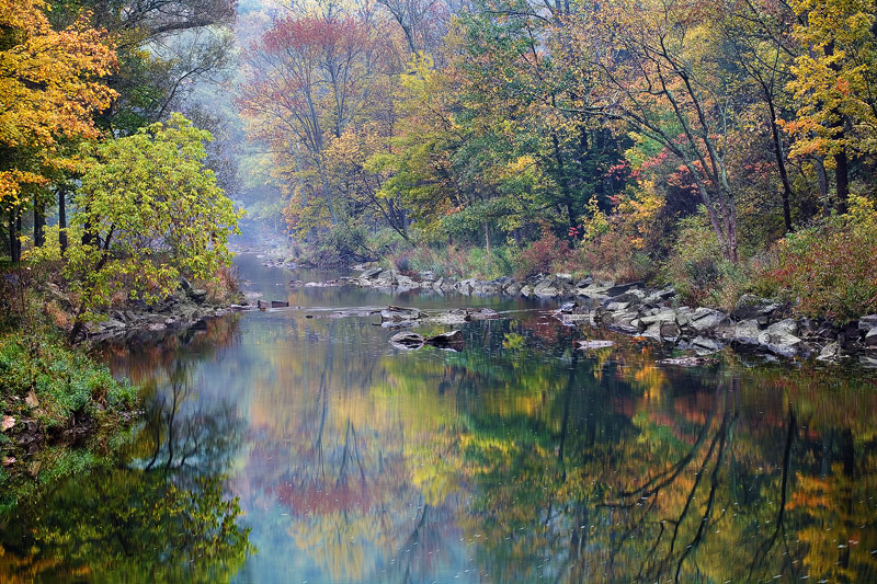 Penn's Creek, trout fishing, image, fall, foggy morning, East Coast, PA, Pennsylvania, Aaronsburg, outdoors, wonderful, , photo