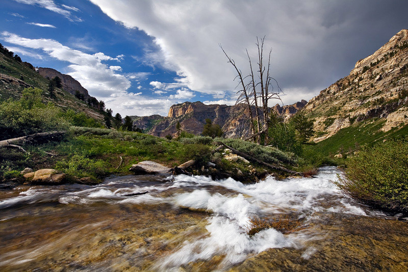 Nevada, NV, Ruby Mountains, Humboldt-Toiyabe National Forest, Thompson Canyon, thunderstorm, snowmelt, Elko, craggy peak, photo