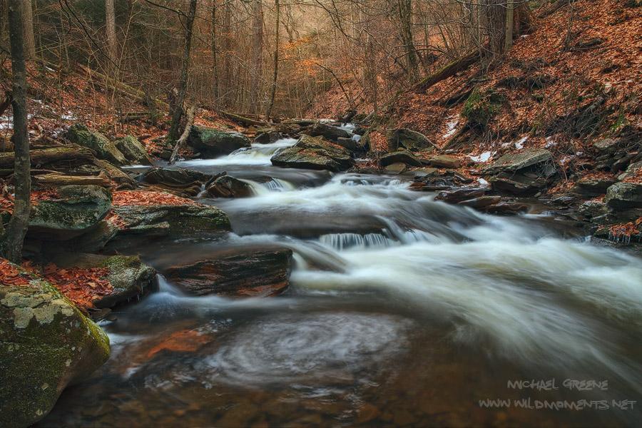 Ricketts Glen, Kitchen Creek, Williamsport, PA, Pennsylvania, winter, photo