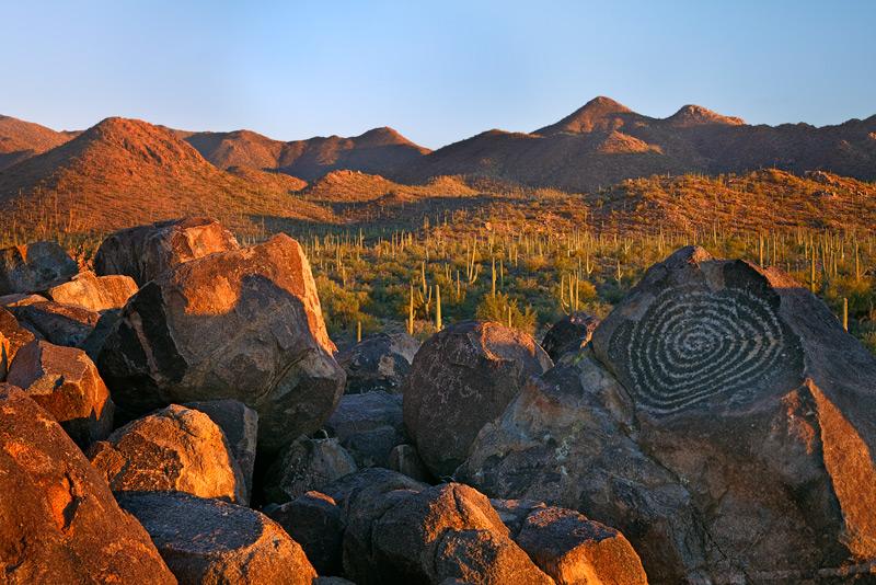 saguaro national park, forest, Arizona, AZ, petroglyphs, photo