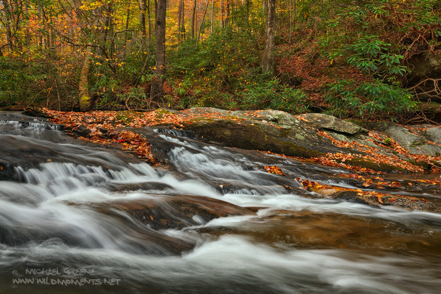 Jones Gap State Park, SC, South Carolina, Marietta, Middle Saluda River, Caesars Head State Park, Mountain Bridge Wilderness, slick rock, autumn, photo