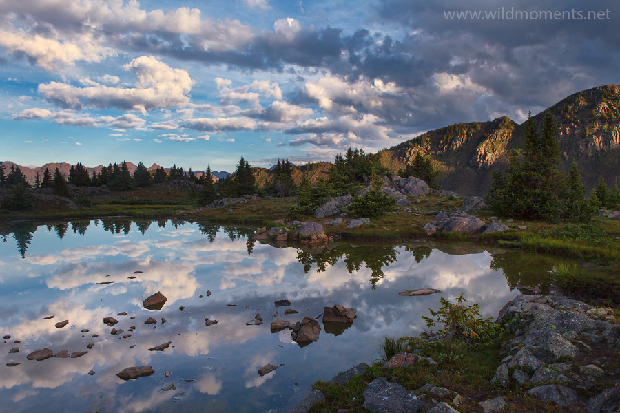 pond, Weminuche wilderness, storm, backcountry, animal, beauty, light, sunrise, atmosphere, photo
