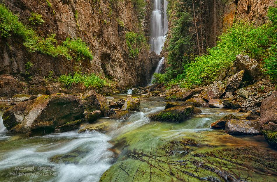 Telluride, Colorado, San Juan Mountains, mountain, waterfall, Orphir, pristine, 145, CO, photo
