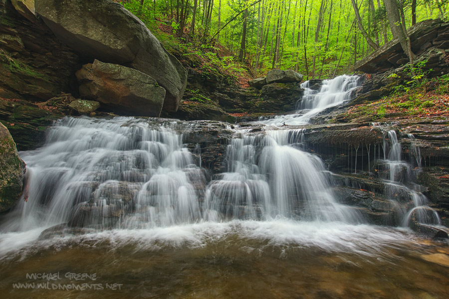 beautiful, waterfall, loyalsock state forest, pennsylvania, spring