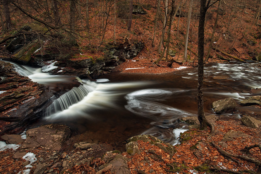 winter, water, Ricketts Glen, Pennsylvania, photo