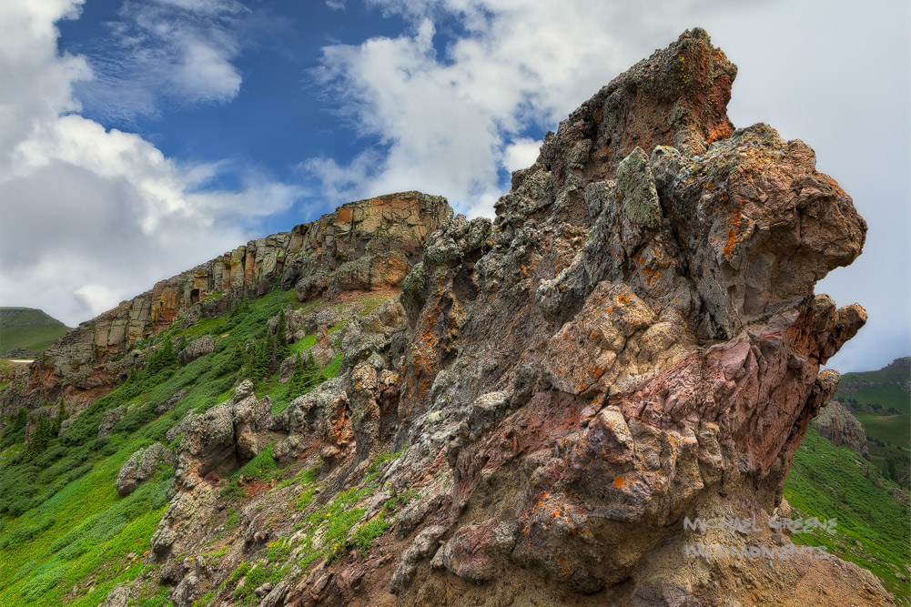 """An amazing rock formation known as """"the keyhole"""" on a hike to Quartz Lake near Pagosa Springs, CO."""