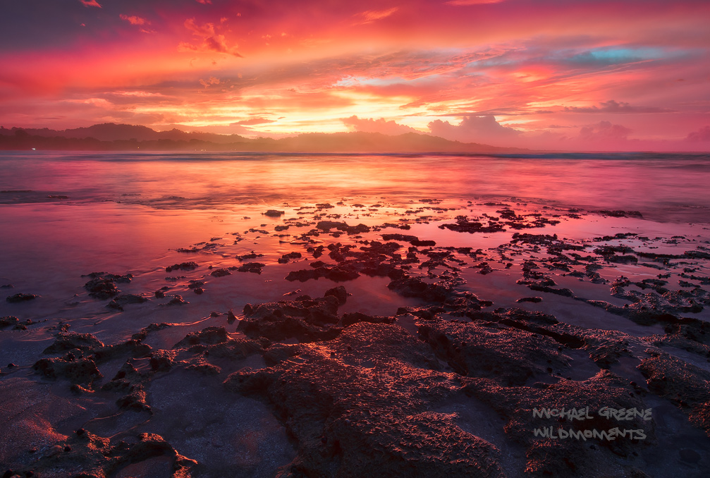 An amazing sunset capped off a spectacular day in Puerto Viejo, Costa Rica. Chino Beach is located downtown and on this evening...