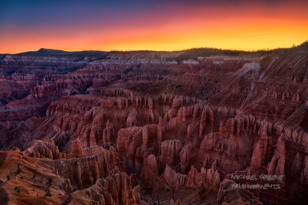 An astonishing view of summer sunrise at Cedar Breaks captured near Spectra Point Overlook. On this morning there was a thin...