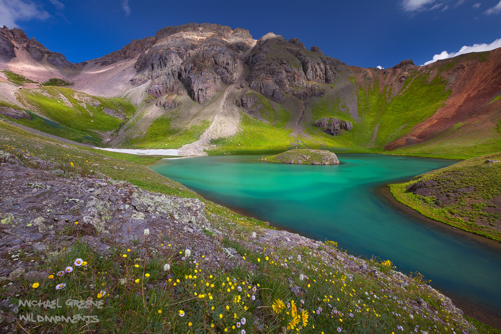 Impressive light accentuates the amazing color of Island Lake. Learn more about this exciting spot in my ebook, Capturing Colorado...