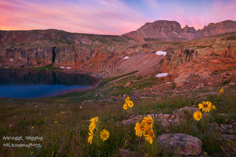 Early morning light at Porphyry Basin above Bullion King Lake near Ouray, Colorado. Learn all about hiking and photography at...