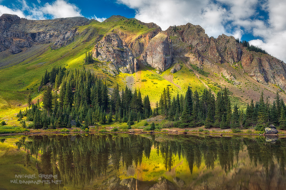 Gold King Basin is an easily accessible location for photography near Telluride, Colorado on the road to Alta Lakes in the San...