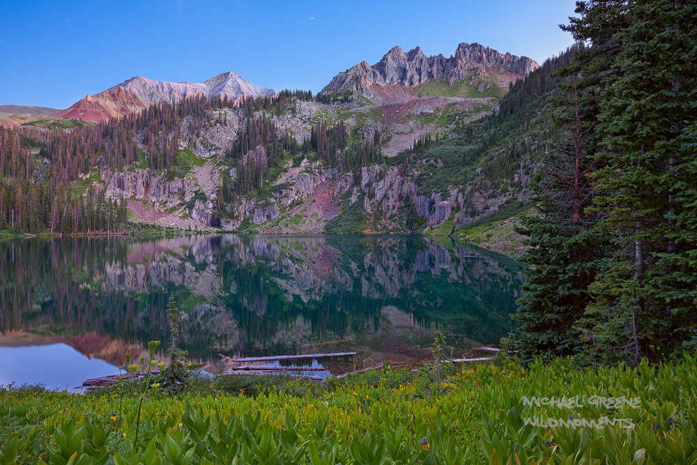 Blue hour at Crater Lake in the South San Juan Wilderness near South Fork. Learn more about this beautiful location in my ebook...