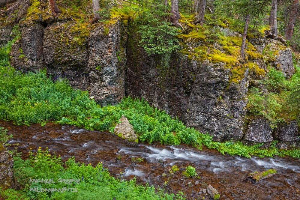 A spectacular ravine near Crater Lake in the South San Juan Wilderness near South Fork. Learn more about this beautiful location...