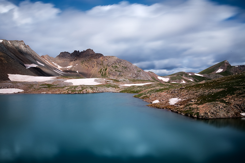 This is a 13 second time lapse exposure of fast moving monsoon clouds taken around mid-day at Sloan Lake altitude 12,920 feet...