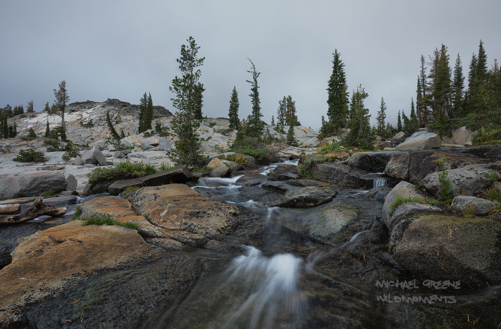 Backpacking in the central Desolation Wilderness near the Bayview Trailhead. This photo was captured off-trail near Fontanellis...