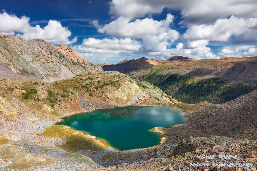 A bird's eye view of Betty Lake, over 12,000 feet up and nestled in rugged heart of the San Juan Mountains. This is truly the...