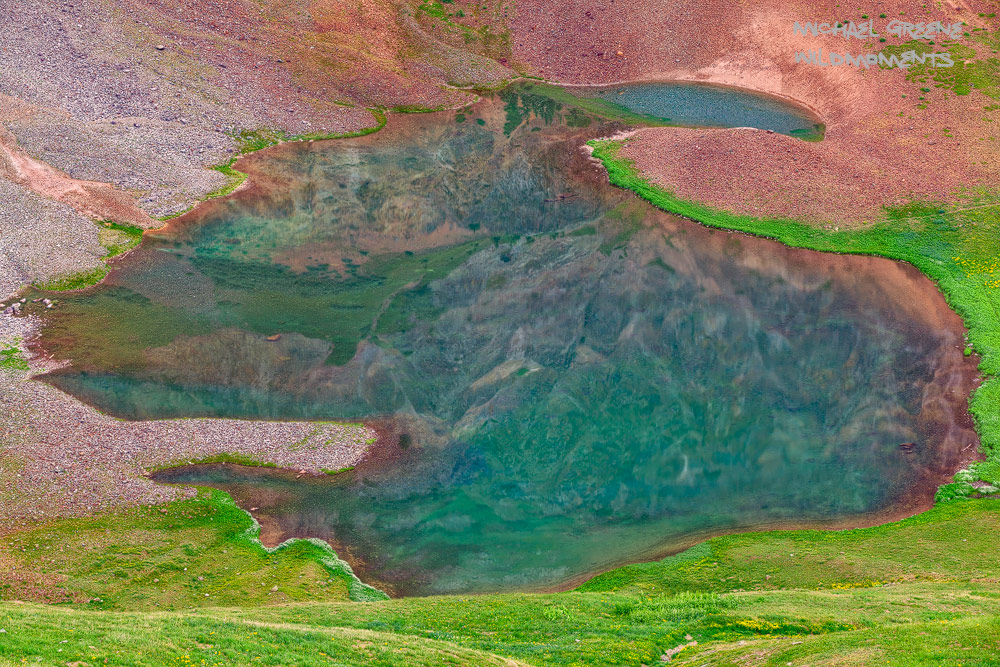A colorful, abstract image of an unnamed lake near Silverton. Learn more about this secret spot in my ebook, Capturing Colorado...