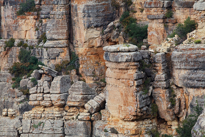 These unique geologic rock formations caught my attention near Robber's Roost deep in the backcountry of Grand Canyon National...