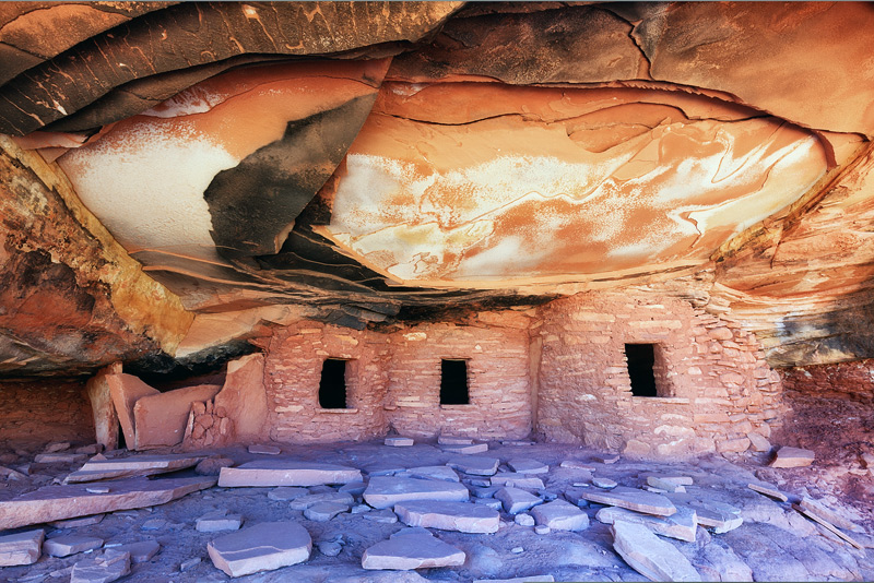 """Guide books led me to this backcountry ruin nicknamed """"Fallen Roof Ruin"""" located in a maze like area of UT called Cedar Mesa...."""