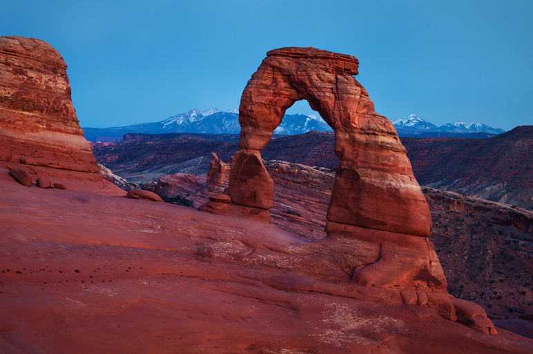 The most famous icon in all of Utah - Delicate Arch pictured here at nightfall. It was my first visit to the arch and although...