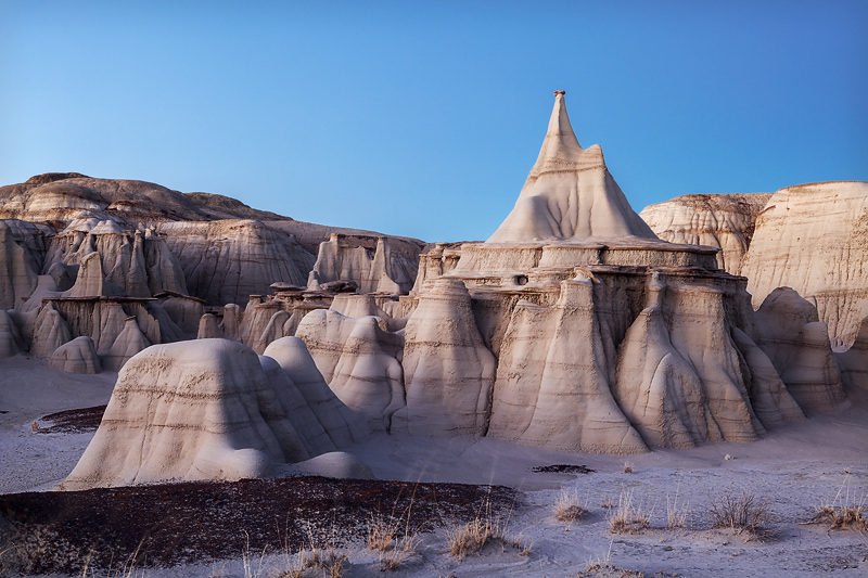 A graceful and flowing look an exquisite sandstone structure deep in the heart of a remote New Mexicobadlands area taken...