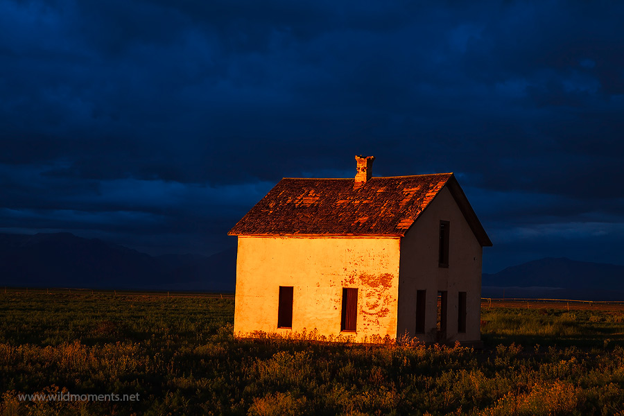 A mesmerizing display of light illuminates an old homestead near Great Sand Dunes National Park, CO. This light quality lasted...