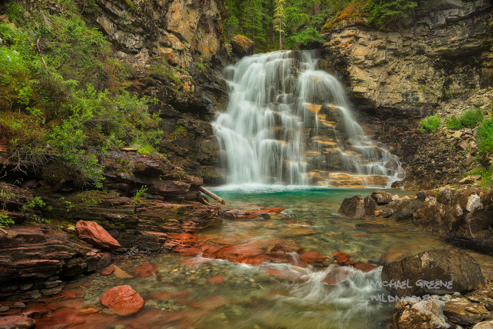 A classic view of a stunning waterfall. The San Juan Mountains have a number of spectacular unnamed and unmarked waterfalls perfect...