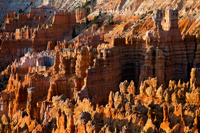 Clusters of hoodoos make up an area called Silent City in Bryce Canyon National Park, UT. This scene was takenjust after...