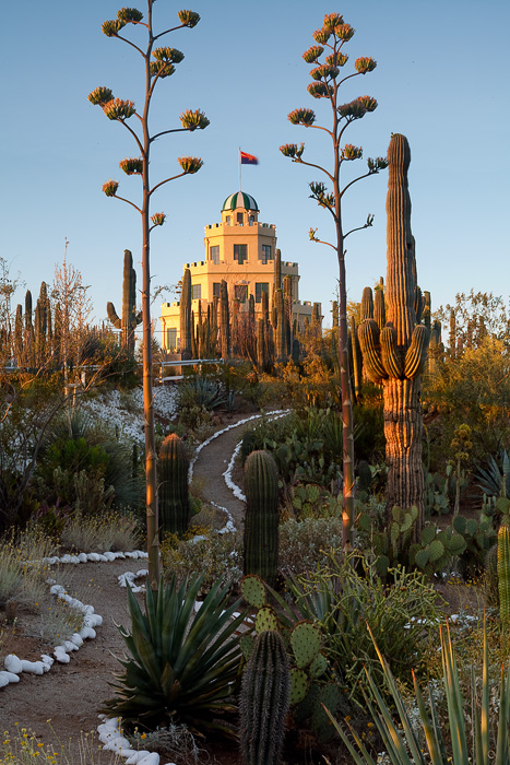 """The Tovrea Castle, an icon in Phoenix, was built in 1926 and is owned by the city. The surrounding garden, called the """"Carraro..."""